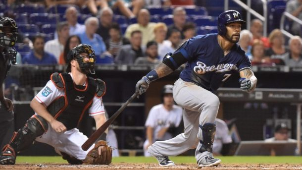 Milwaukee Brewers v Miami Marlins