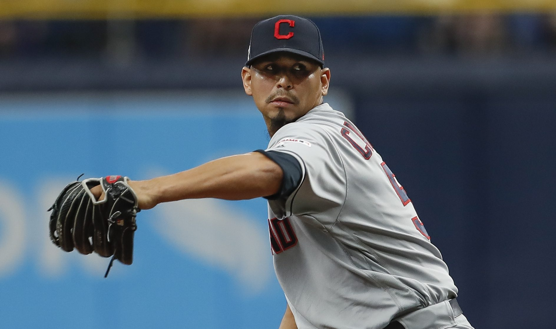 Carlos Carrasco pitches for the first time since his cancer diagnosis