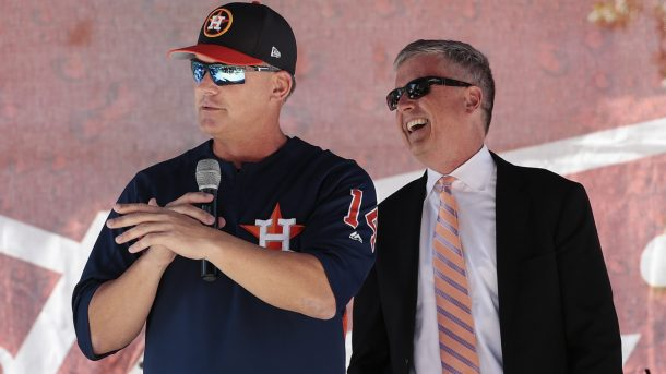 A.J. Hinch (left) and Jeff Luhnow (right)