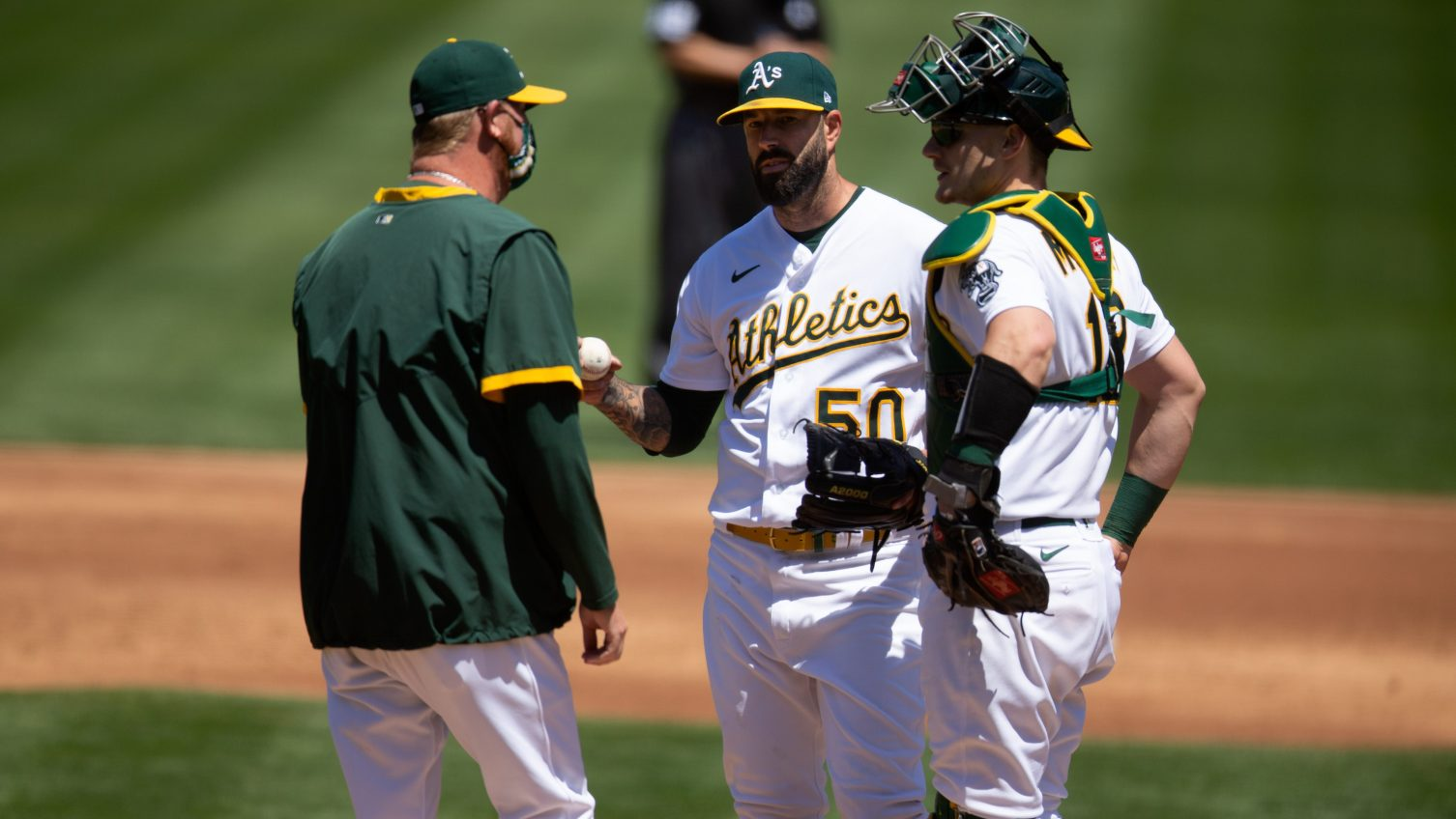 Athletics' Mike Fiers likely not throwing another month after injection