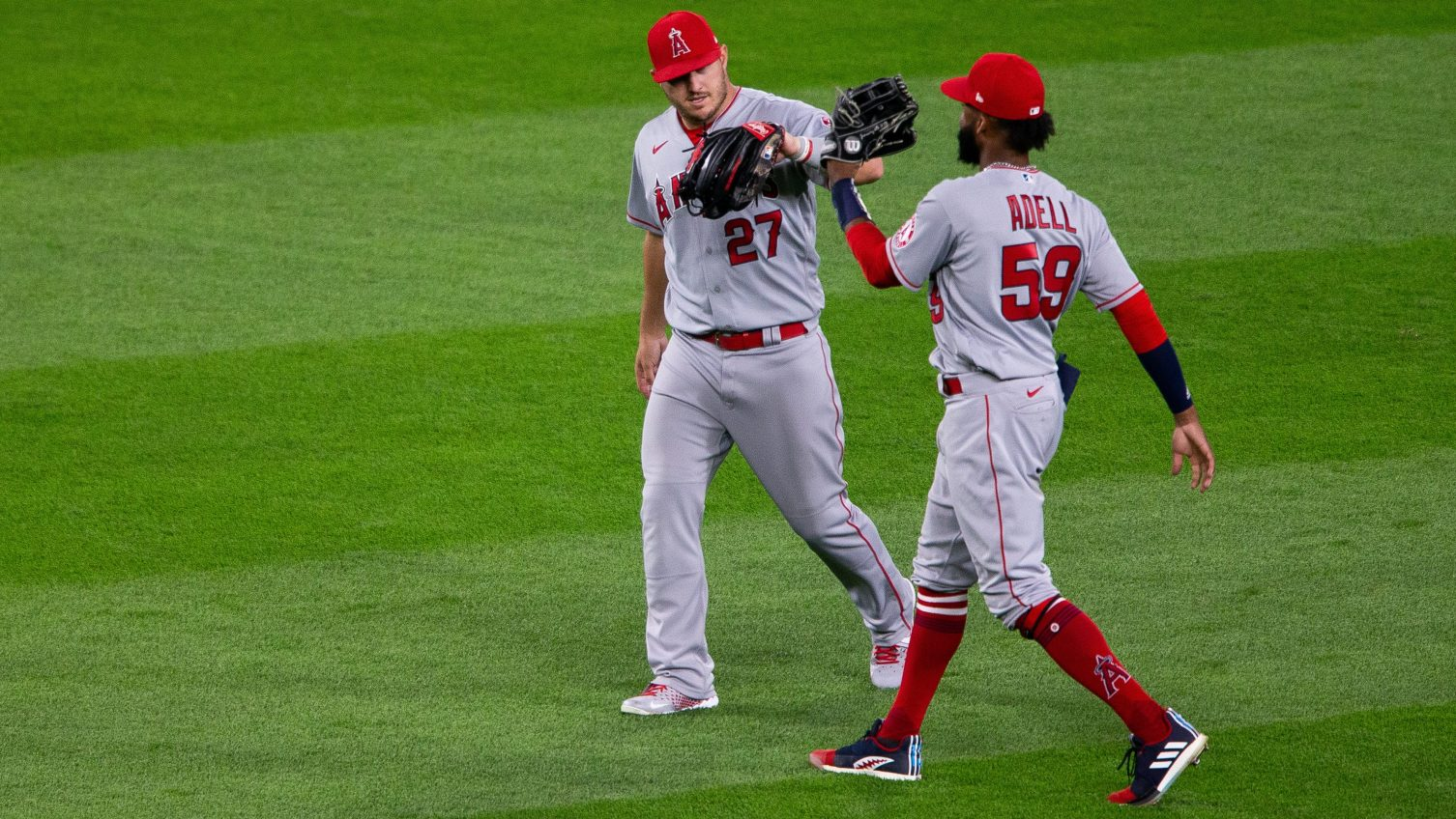 Angels outfielders Mike Trout, Jo Adell likely done for the year